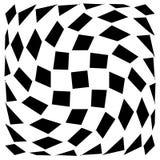 Передернутая сетка, геометрический элемент решетки Скачками visual мозаики Стоковая Фотография RF