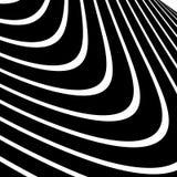 Передернутые, снованные линии геометрическая monochrome картина Чернота и иллюстрация вектора