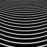 Передернутые, снованные линии геометрическая monochrome картина Чернота и иллюстрация штока