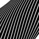 Передернутые, снованные линии геометрическая monochrome картина Чернота и Стоковое Изображение RF