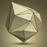 Передернутый объект технологии меди 3d grunge полигональный, абстрактный Стоковое Фото