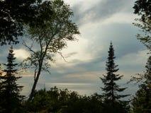Перед Зелёным заливом шторма обозревая Стоковые Изображения