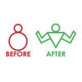 Перед и после фитнесом Стоковая Фотография