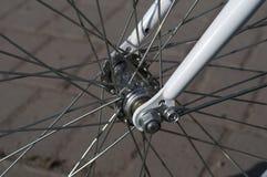 Переднее колесо велосипеда Эпицентр деятельности велосипеда Стоковое Изображение