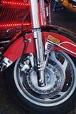 Переднее колесо с тарельчатым тормозом Стоковые Изображения