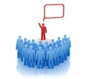 передние люди оратора говорят трибуна Стоковое Изображение RF