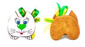 передний и задний котенок печенья пряника Стоковая Фотография