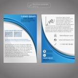 Передний и задний шаблон брошюры страницы Шаблон плана Предпосылка представления абстрактная для дела Стоковые Изображения RF