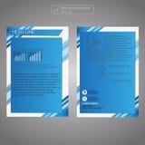 Передний и задний шаблон брошюры страницы Шаблон плана Предпосылка представления абстрактная для дела Стоковые Фотографии RF