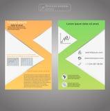 Передний и задний шаблон брошюры страницы Шаблон плана Предпосылка представления абстрактная для дела Стоковое Изображение
