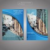 Передний и задний шаблон брошюры страницы Шаблон плана Предпосылка представления абстрактная для дела Стоковое фото RF