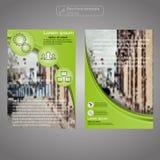 Передний и задний шаблон брошюры страницы Шаблон плана Предпосылка представления абстрактная для дела Стоковые Фото