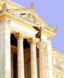 Передний портик на della Patria Altare, Риме, Италии стоковое изображение rf