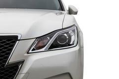 Передний свет современного автомобиля спорт Стоковая Фотография RF