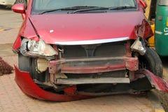 Передняя авария автомобиля Стоковое фото RF