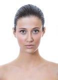 Передняя грань красивой женщины с здоровой свежей кожей Стоковое Изображение RF