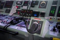 Передняя консоль в топливозаправщике корабля Стоковое фото RF