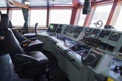 Передняя консоль в топливозаправщике корабля Стоковая Фотография