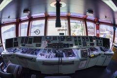 Передняя консоль в топливозаправщике корабля Стоковое Фото