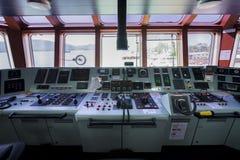 Передняя консоль в топливозаправщике корабля Стоковая Фотография RF