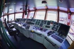 Передняя консоль в топливозаправщике корабля Стоковое Изображение