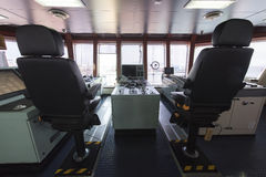 Передняя консоль в топливозаправщике корабля Стоковые Изображения RF