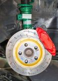 Передняя тормозная система дисковых тормозов Стоковое Фото