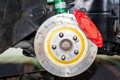 Передняя тормозная система дисковых тормозов Стоковое Изображение