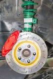 Передняя тормозная система дисковых тормозов Стоковые Изображения