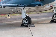 Передняя шестерня и крыло малого aicraft Стоковые Изображения RF