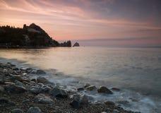 Перед рассветом в заливе Gurzuf Стоковые Изображения RF