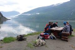 Перед сплавляться, Flam, Норвегия Стоковые Изображения RF