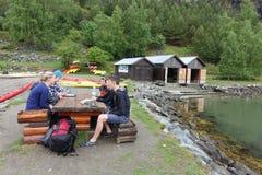 Перед сплавляться, Flam, Норвегия Стоковая Фотография RF