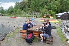 Перед сплавляться, Flam, Норвегия Стоковое Изображение RF