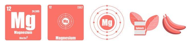 Периодическая таблица группы элемента II щелочноземельные металлы иллюстрация вектора