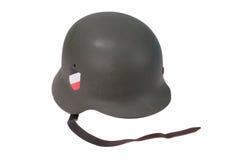 Период Второй Мировой Войны шлема немецкой армии Стоковое Изображение