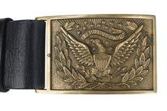 Период гражданской войны пряжки пояса армии США Стоковые Изображения
