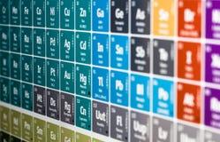 периодическая таблица Стоковая Фотография RF