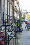 Перила около крылечка, Амстердам, Нидерланды Стоковые Изображения RF
