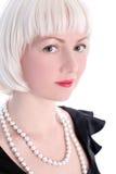 перла девушки blondie Стоковые Фотографии RF
