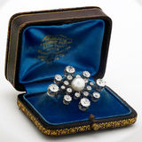 перла диаманта brooch Стоковое фото RF