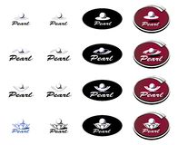 перла логотипа Стоковое Изображение RF