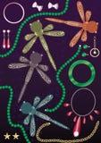 перла нефрита золота eps dragonfly диаманта Стоковые Фото