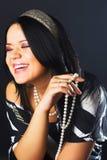перла ожерелья девушки Стоковые Изображения RF