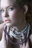 перлы красотки белокурые Стоковые Фото