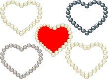 перлы сердец Стоковая Фотография RF