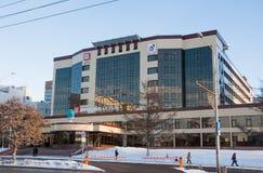 ПЕРМЬ, РОССИЯ - 13-ое марта 2016: Современное строя Lukoil Стоковое Фото