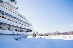Пермь, Россия - 11-ое марта 2017: Часть мотора 3-палубы стоковое изображение rf
