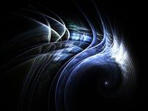 Пернатая голубая спираль фрактали Стоковые Изображения