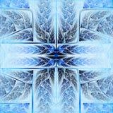 Пернатый голубой и яркий крест Стоковые Фотографии RF